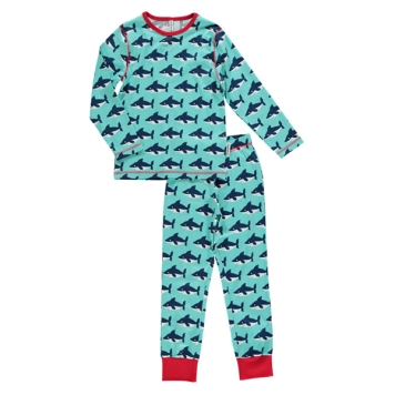 maxomorra_pyjama_haai_shark_aqua_rood_bio_eco_fair_kinderkleding_met_een_hart