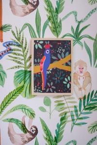 Poster van Jungle Mumble Design, behang van Creative Lab Amsterdam